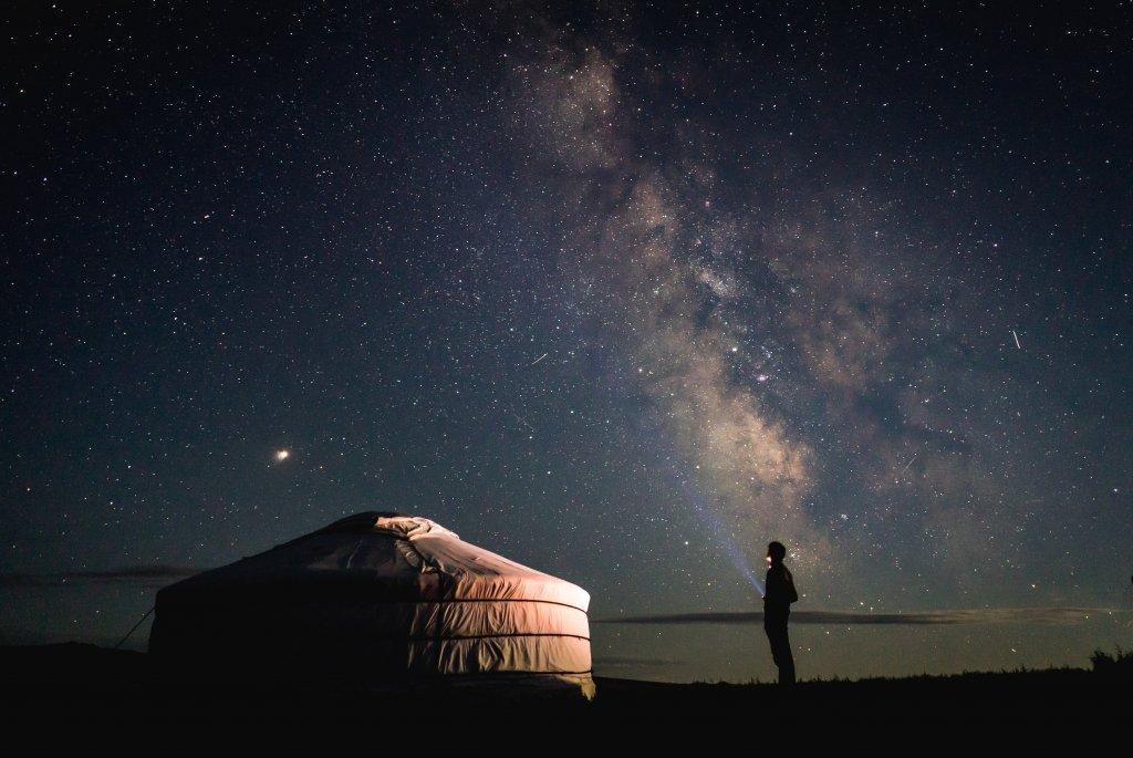 gher cielo stellato mongolia