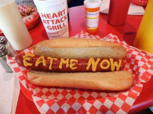 Heart Attack Grill hot dog
